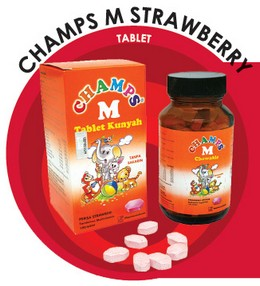 Champs M Strawberry Tablet