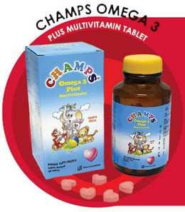 Champs Omega 3 Plus Multivitamin Tablet