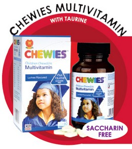 Chewies Multivitamin With Taurine (Saccharin Free)