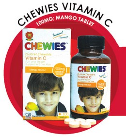 Chewies Vitamin C 100mg Mango Tablet