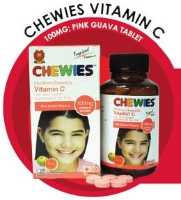 Chewies Vitamin C 100mg Pink Guava Tablet