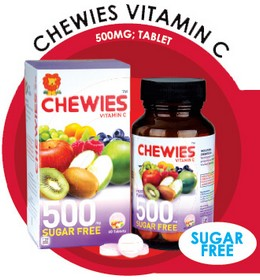 Chewies Vitamin C 500mg Tablet (Sugar Free)