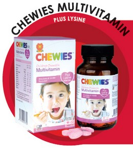 Chewies Multivitamin Plus Lysine