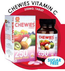 Chewies Vitamin C 250mg Tablet (Sugar Free)