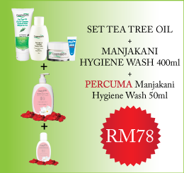 Tea Tree Oil Set + Manjakani Hygiene Wash 50ml