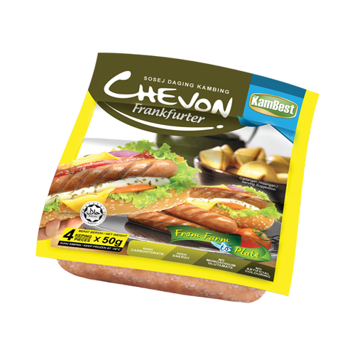 Chevon Frankfurter (Sosej Daging Kambing)