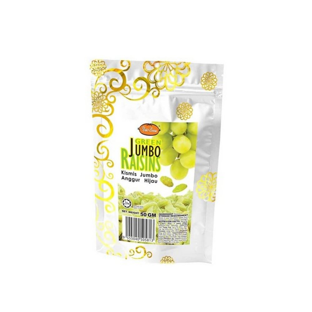 Date-Licious Dried Fruit Pouch - Green Jumbo Raisins