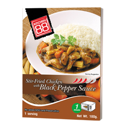 Stir-Fried Chicken with Black Pepper Sauce