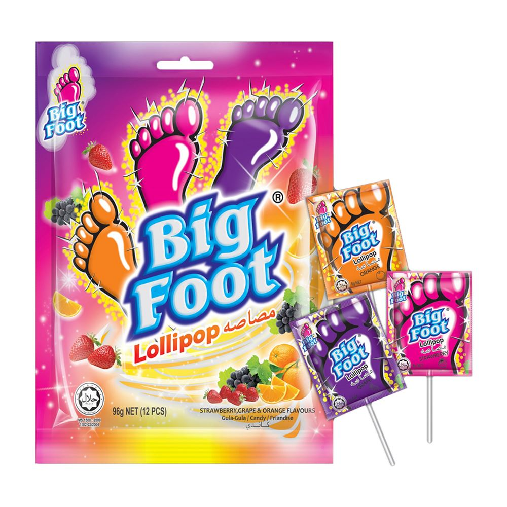 Big Foot Lollipop (12 pcs)