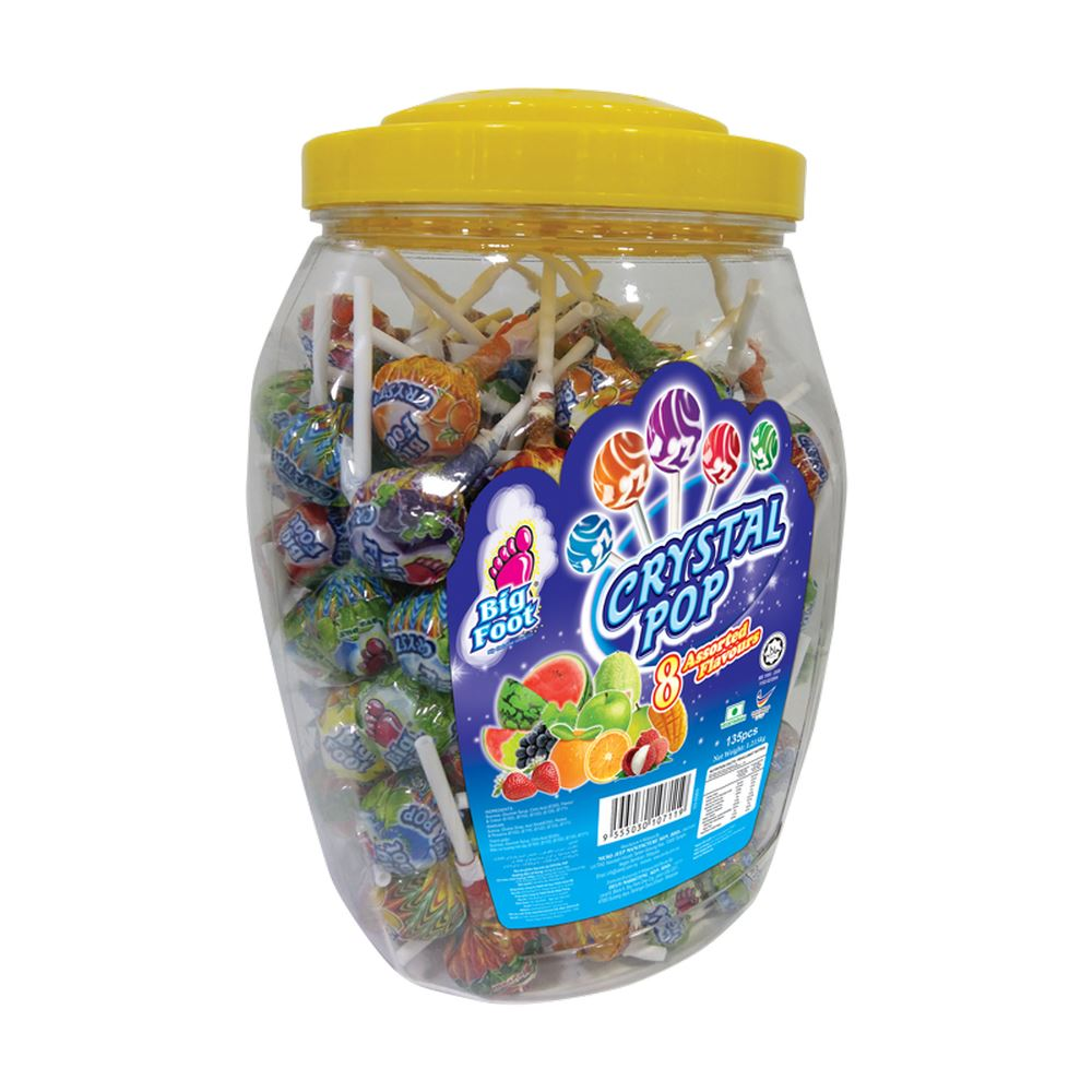 Big Foot Crystal Pop Lollipop (Jar)