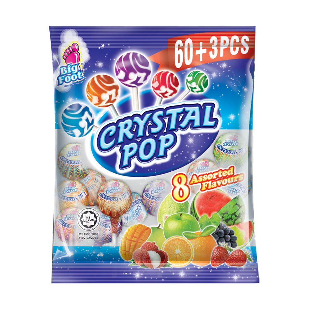 Big Foot Crystal Pop Lollipop