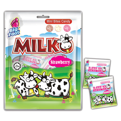 Milko Mini Bites Candy (Strawberry)