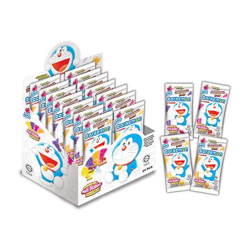 Big Foot Natural Pop Doraemon Lollipop (24 pcs)
