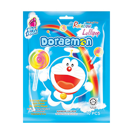 Big Foot Rainbow Doraemon Lollipop (10 pcs)
