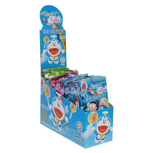 Big Foot Rainbow Doraemon Lollipop (24 pcs)
