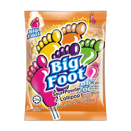 Big Foot Sour Powder + Lollipop (30 pcs)
