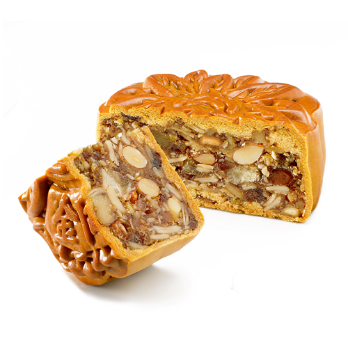 Assorted Fruit Nuts with Chicken Bits Mooncake
