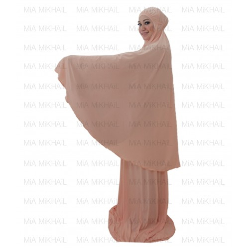 Muslim Women's Hijab 2pcs Islamic Prayer Clothing Azalea