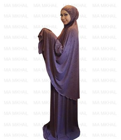 Muslim Women's Hijab 2pcs Islamic Prayer Clothing Tamarind Emboss