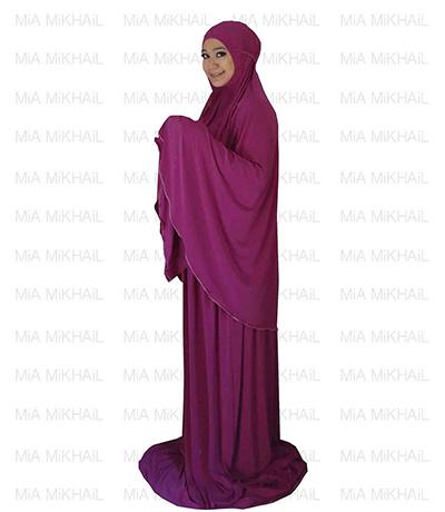 Muslim Women's Hijab 2pcs Islamic Prayer Clothing Velvet Premium