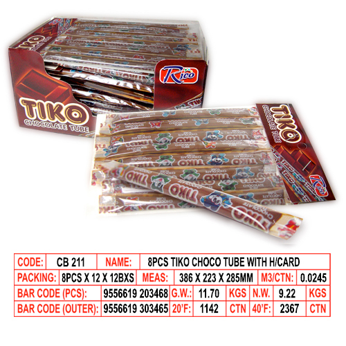 Tiko Choco Tube with H/Card