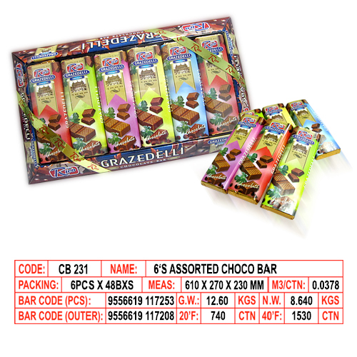 6's Assorted Choco Bar