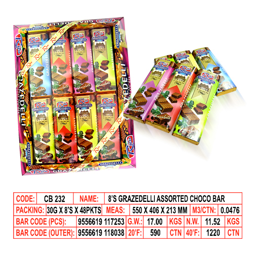 8's Grazedelli Assorted Choco Bar
