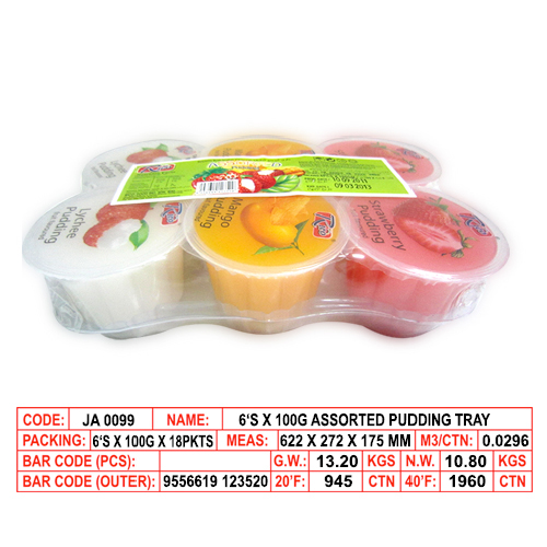 6's X 100g Assorted Pudding Tray