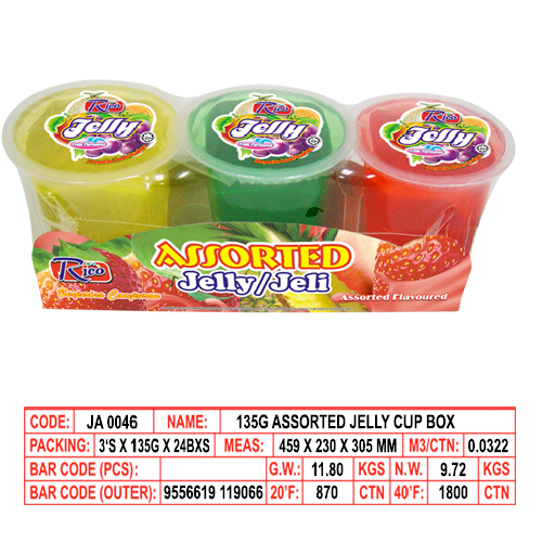135g Assorted Jelly Cup Box