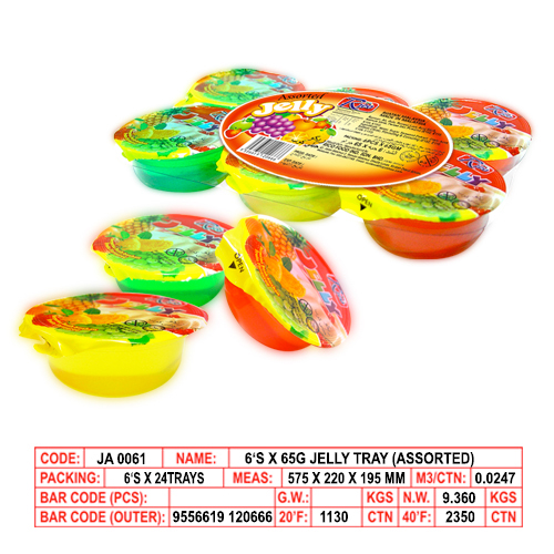 6's x 65g Jelly Tray (Assorted)
