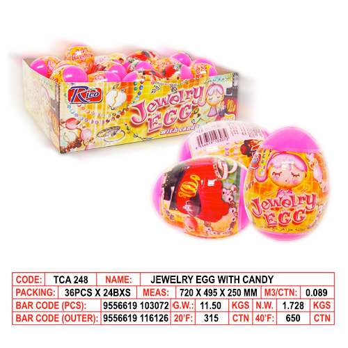 Jewelry Egg with Candy