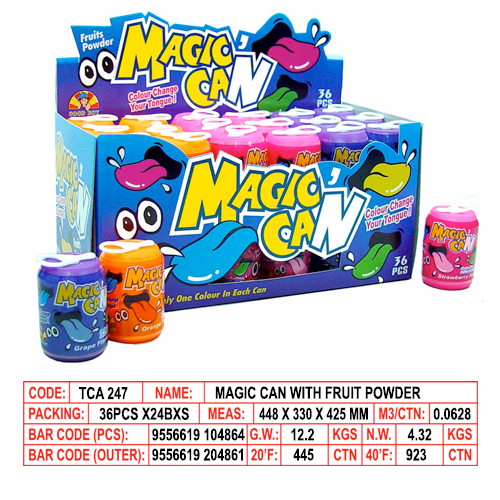 Magic Can with Fruit Powder