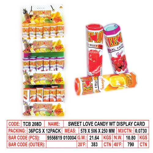 Sweet Love Candy with Display Card