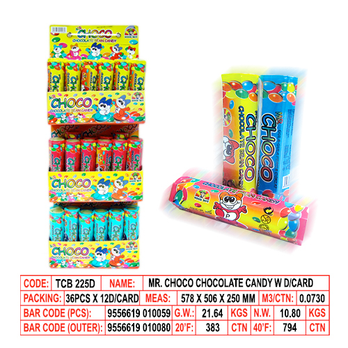 Mr. Choco Chocolare Candy with Display Card