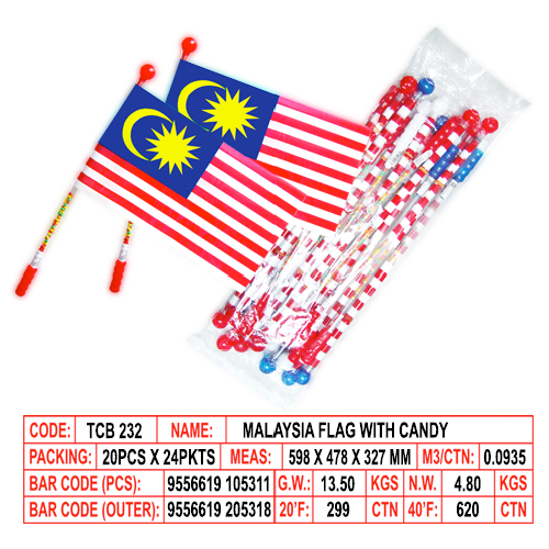 Malaysia Flag with Candy