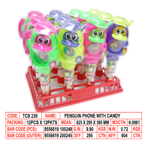 Penguin Phone with Candy