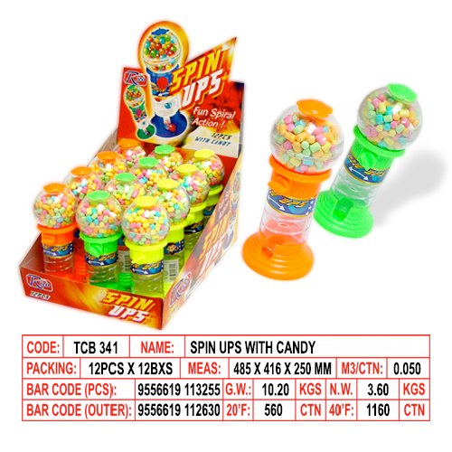 Spin Ups with Candy