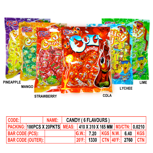 Candy (6 Flavours)