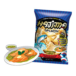 Hajima Crispy Salmon Skin - Seafood Sauce