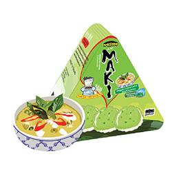 Maki Jasmine Rice Crackers - Veggie Green Curry