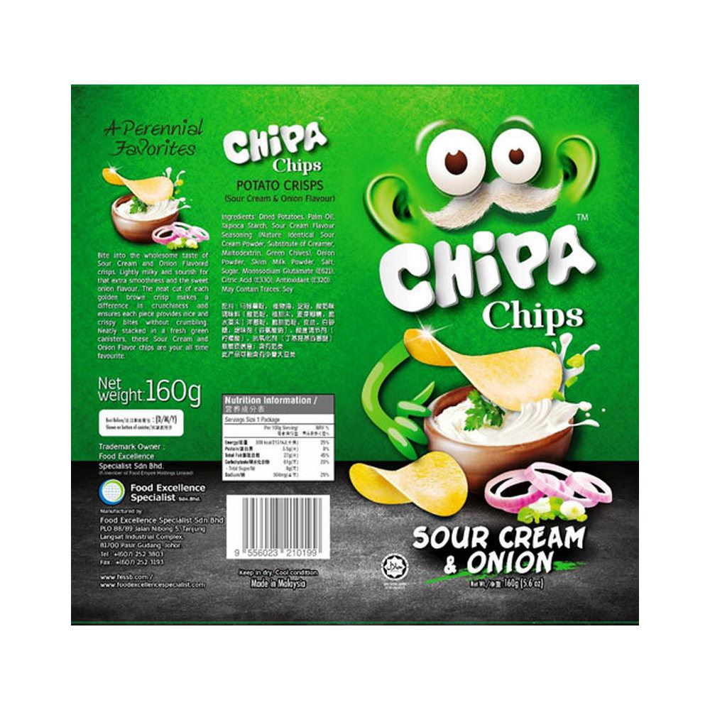 Chizzpa Chips Potato Crisps - Sour Cream & Onion