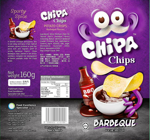 Chizzpa Chips Potato Crisps - Barbeque