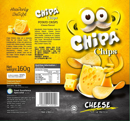 Chizzpa Chips Potato Crisps - Cheese