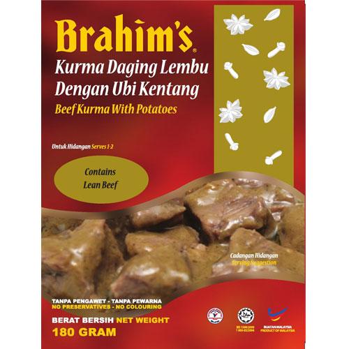 Brahims Beef Kurma with Potatoes