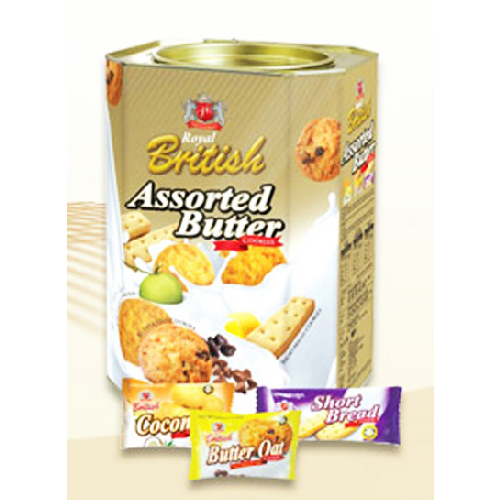 Royal British Assorted Butter Cookies (Coconut, Butter Oat & Shortbread)