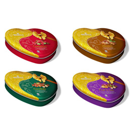 Vochelle Coated Nuts in Chocolate Tins (Special Designs)