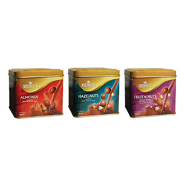 Vochelle Coated Nuts in Chocolate Tins (180g)