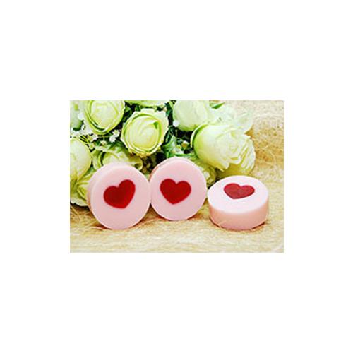 Flower Natural Handmade Soap- Rose Soap Round Shape