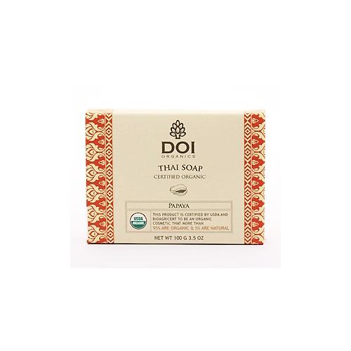 Organic Soap Certified by USDA- Papaya