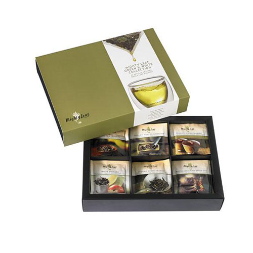 Green & White Collection Tea Chest